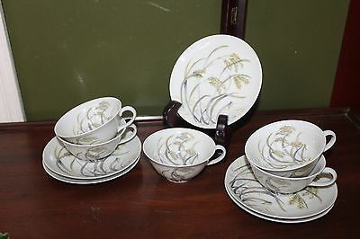 CH Field Haviland  FRANCE Limoges CUP AND SAUCER - SET OF 5