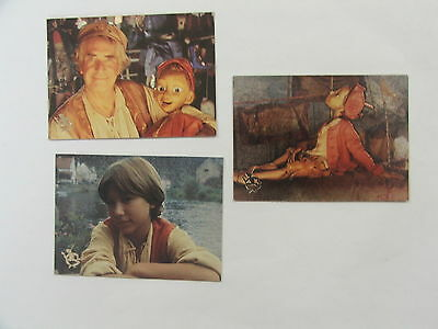 Pinocchio The Movie set of 3 Etched foil cards 1995