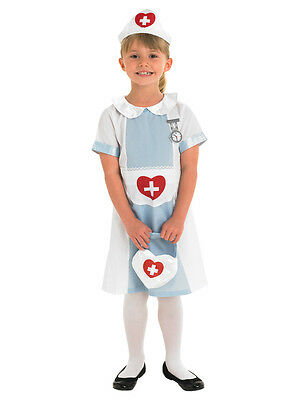 Child Ages 5-6 Years Nurse Hospital Doctor Party Fancy Dress Costume Kids Girls
