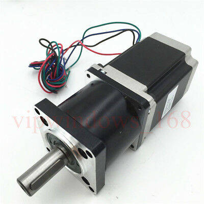 Nema23 Geared 10:1 Planetary Stepper Motor 11Nm L56mm 3A CNC Speed Reducer