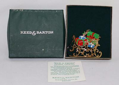 Reed & Barton Ornament Colors of Christmas, GIFT SLEIGH, 1989, w/Box with COA