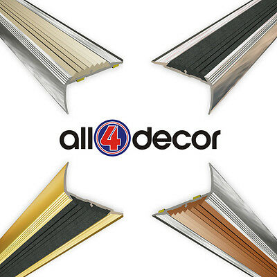 Aluminium stair nosing profiles 90cm | 5 COLOURS TO CHOOSE strip stair angle ALU