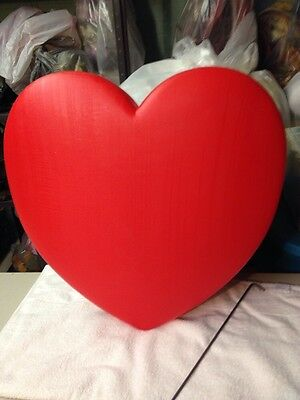 NEW Vintage Union Valentine's Day Lighted Blow Mold  Red Heart