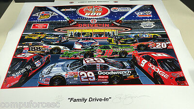Signed Sam Bass Family Drive in Print 127 of 600