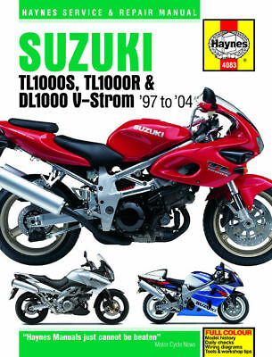 Suzuki TL1000 TL1000S TL1000R DL1000 V-Strom 1997-2004 Haynes Manual 4083 NEW
