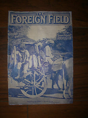 Vintage Wesleyan Methodist Church Magazine The Foreign Field January 1924
