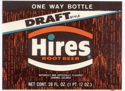 Vintage Hires Root Beer Label (Unused) Free Shipping