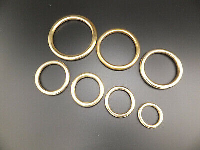 """HEAVY 3/4"""" to 2"""" Solid Brass O Rings Leather Craft packs of  2,5,10,15,25,50"""