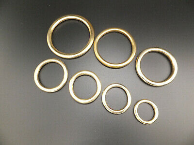 "HEAVY Solid Brass O Rings Leather Craft 3/4"" to 2"" in packs of  2,5,10,15,25,50"