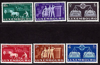 $ Luxembourg Scott #272-277 mint, NH, VF, complete set, Cat. Value $175