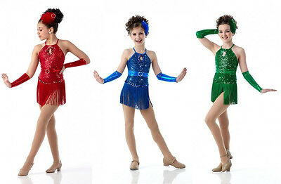 ANYTHING GOES Fringed Leotard Jazz,Tap,Christmas Ballet Chicago Dance Costume