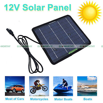 5W 10W 20W 100W Portable Solar Panel Battery Charger Backup for Car Camping Boat