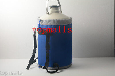 20 L Liquid Nitrogen Tank Cryogenic LN2 Container Dewar with Straps