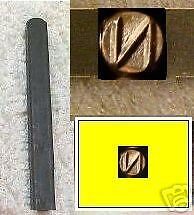 "Letter ""N"" steel jewelry stamp 7mm tall square 1/4 Inch"