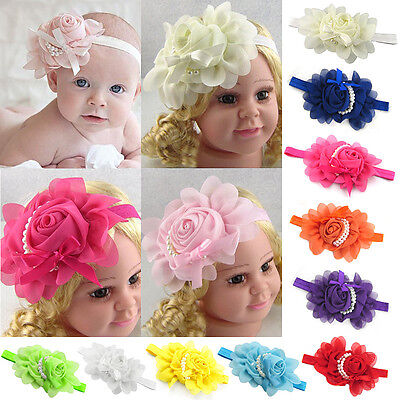 1X Kids Girl Baby Toddler Infant Flower Headband Hair Bow Band Hair Accessories