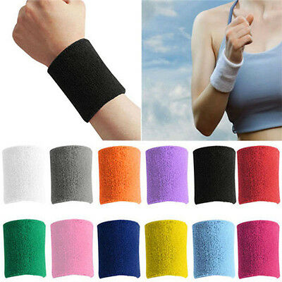 New Sport Unisex Cotton Sweat Bands Tennis Basketball Badminton Terry Wrist Band
