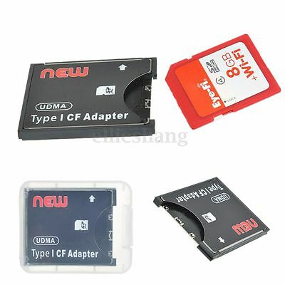High Speed SDXC/SDHC/SD/MMC to Compact Flash CF Type I Card Reader Adapter New