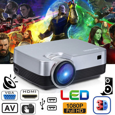 Excelvan Android WIFI Smart PC LED Proyector HD 1080P 1500 lúmenes Cine En Casa