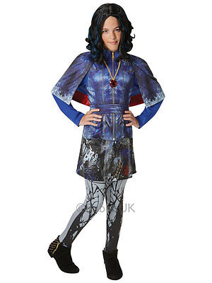 Child Disney Descendants Evie Deluxe Fancy Dress Costume Isle Of The Lost Girls