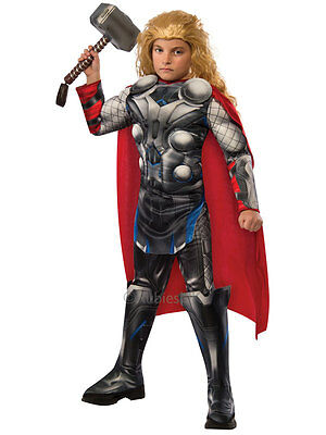 Child Marvel Thor Avengers Age Of Ultron Deluxe Outfit Fancy Dress Costume Kids
