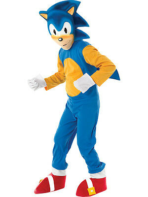 Child Licensed Sonic The Hedgehog Party Outfit New Fancy Dress Costume Boys BN