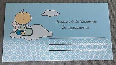 NEW Kids Baby Boys Mi Bautizo Baptism Dedication Blue Invitation - 25 piece pack