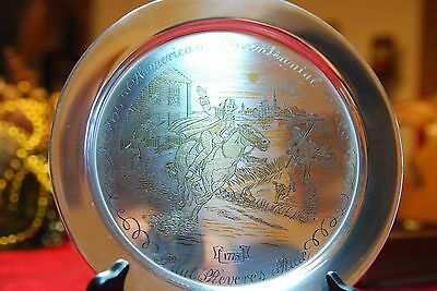 Solid Sterling Silver American Bicentennial Danbury Mint Collector Plate w/ COA