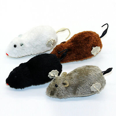 Little Mouse Toy Squeak Clockwork rotation Funny Playing Gift Toy For Cat