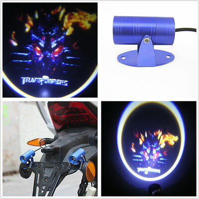 Motorcycle Electric Bikes LED Laser Shadow Projector Light 3D Transformers Logo