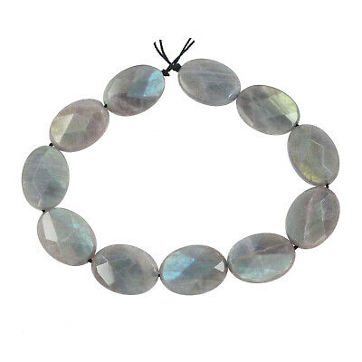 """13 Rainbow Labradorite Oval Cushion Faceted Beads 12x16mm 8.2"""" #85245"""