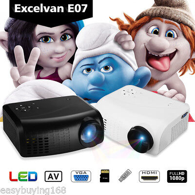 LED Vidéo Projecteur 1080P Support 120 Lumen 1000:1 HDMI/USB/AV/VGA/Analog TV FR