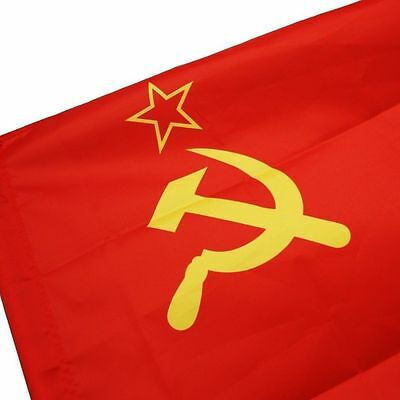 red CCCP Union of Soviet Socialist Republics 3x5' Ft USSR FLAG russia Banner