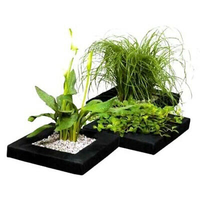 24cm FLOATING POND PLANT FLOAT BASKET SQUARE LILLY POTTED PLANTED FISH ISLAND