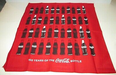Coke Coca Cola Soda 100Th Anniversary Contour Bottle Bandanna Scarf Bandana