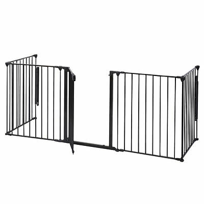 Baby Child Toddler Pet Animal Metal Safety Fireplace Fence Hearth Screen Gate