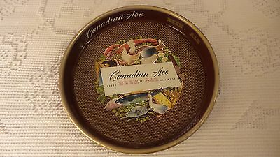 CANADIAN ACE BEER AND ALE Advertising Metal BEER TRAY