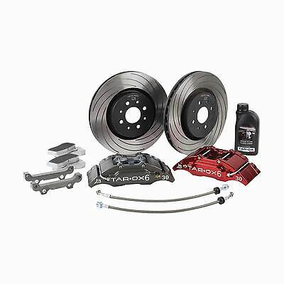 Tarox Grande Sport Front Brake Kit Black 10 Pot Calipers F2000 Discs Strada Pads