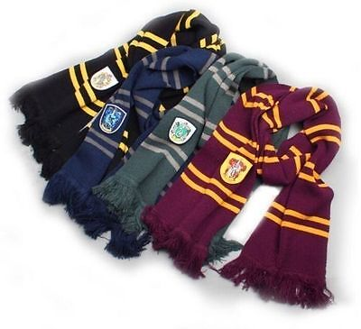 Warm Soft Harry Potter Gryffindor Slytherin Ravenclaw Hufflepuff Scarf Xmas Gift