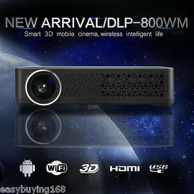 10000:1 DLP Proyector 6000LM Android WiFi BLUETOOTH 3D 1080P Película HDMI VGA