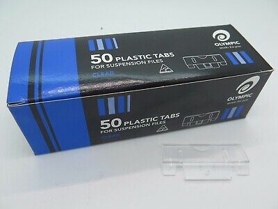 50 x Olympic Easyglide Clear Suspension File Tabs 141660*