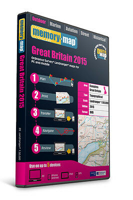 Memory-Map 2015 SD Great Britain OS Landranger 1:50,000 Maps [LSEGB15]