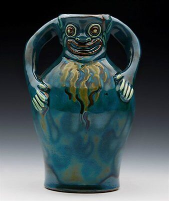 Antique Longpark Torquay Grotesque Jug By Blanche Vulliamy C.1900