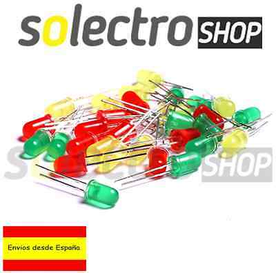 Kit 30 Diodos LED 5mm ROJO VERDE AMARILLO   Arduino  Electronica P0011