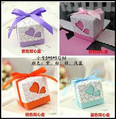 50 /100pcs Love Heart Wedding Favour Boxes Candy Gift Party Sweet Boxes - CB1