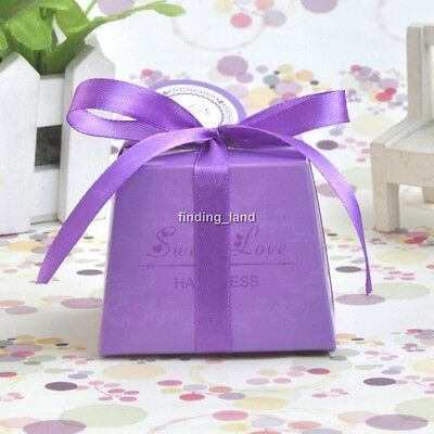 50 /100pcs LOVE Wedding Favour Boxes Candy Gift Party Sweet Boxes - CBD1