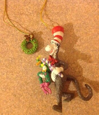 Dr Seuss Henson Cat In The Hat Wubbulous World Ornament Lot of 2 MUPPETS