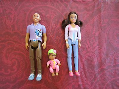 Fisher Price Loving Family AA African American Parents 2014 New Mom Dad Baby Toy