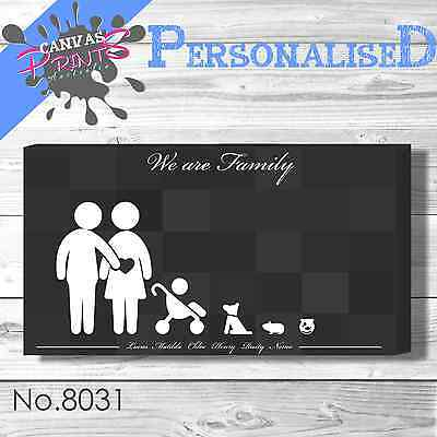 Personalised Family Rules Canvas 55 Colors Home Prints Art Wall Decoration House