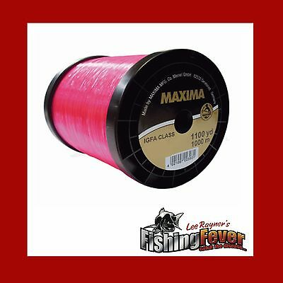 Maxima Fishing Line 4 - 24kg IFGA Rated In Pink At FISHING FEVER