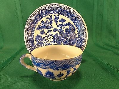"""Vintage Blue Willow Demi Tasse Cup & Saucer """"MADE IN JAPAN""""  NO CHIPS !"""